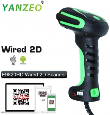 Yanzeo E9820 Industry High Precision 1D 2D Barocde Reader Ultra-Rugged Barcode Scanner Kit DPM PDF417 QR Code USB Cable