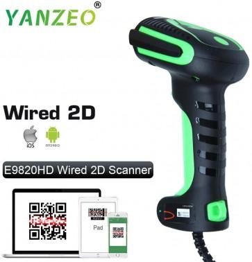 Yanzeo E9820 Industry High Precision Direct Part Marking Barocde Reader Ultra-Rugged DPM 2D/1D Barcode Scanner Kit DPM 1D 2D PDF417 QR Code USB Cable