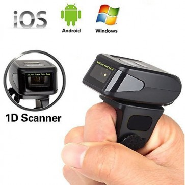 Yanzeo R1800 R1820 Portable 1D QR Bar Coder Reader Wearable Ring Wireless Finger 2.4G Bluetooth Barcode Scanner for iOS/Android/Window
