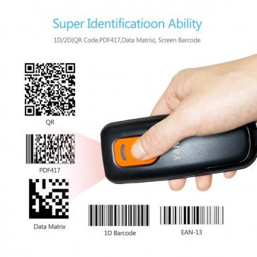 Yanzeo P1600 P1620 Protable Pocket QR Wireless 1D Barcode Scanner USB Bluetooth 2.4G Barcode Reader