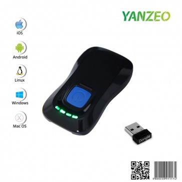 YANZEO P2000 1D 2D Mini Bluetooth Barcode Scanner 1D 2D Bluetooth 2.4GHz Wireless Transfer Wireless Barcode Reader