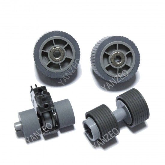 YANZEO Brake Roller Pick Roller Set for Fujitsu Fi-7600 Fi-7700 Fi-7700S PA03740-K010 PA03740-K011