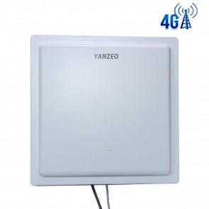 Yanzeo SI804 4G UHF RFID Reader 15M-30M Long Range 12dbi Antenna RS232/RJ45/ Wiegand UHF RFID Reader + Free SDK(Demo) Network Port