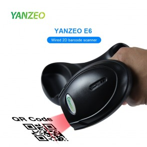 Yanzeo EW6 2D Wireless Industrial Barcode Scanner with Storage Charger Base Industrial Bar Code Reader