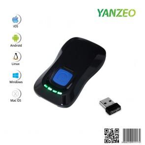 YANZEO P2000 2.4GHz Mini 1D 2D Bluetooth Wireless Barcode Scanner Barcode Reader