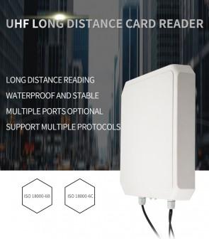 YANZEO R169 9DBI 10M Long Range Integrated UHF RFID Reader Writer RS485 RS232 USB Waterproof 865~928MHz