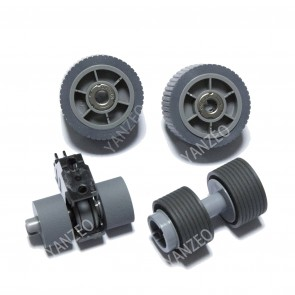 YANZEO PA03740-K010 PA03740-K011 for Fujitsu Fi-7600 Fi-7700 Fi-7700S Brake Roller Pick Roller Set