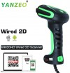Yanzeo E9820 Industry High Precision Direct Part Marking Barocde Reader Ultra-Rugged DPM 2D/1D Barcode Scanner Kit DPM 1D 2D PDF417 QR Code USB Cable